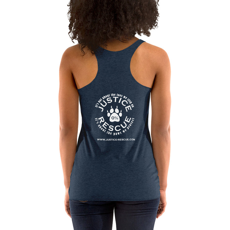 """Life Goals: Pet All The Dogs"" Women's Racerback Tank"