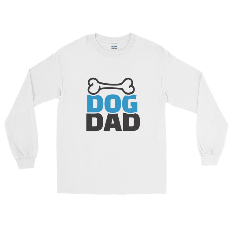 """Dog Dad"" Long Sleeve Mens T-Shirt"