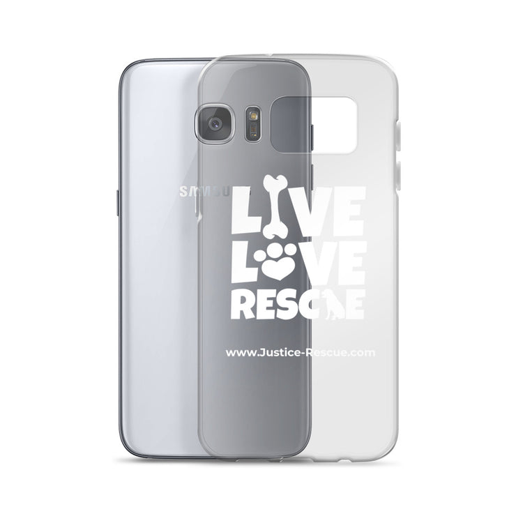 """Live, Love, Rescue"" Samsung Case"