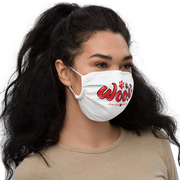 WOOF Premium face mask - White
