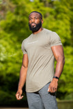 Rogue Muscle Fit T-shirt | Khaki Green and White