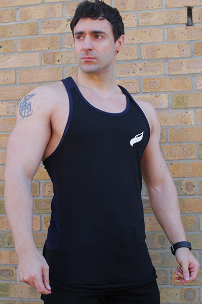 Classic Fitted Stringer Vest | Navy & Black *VERY LIMITED STOCK*