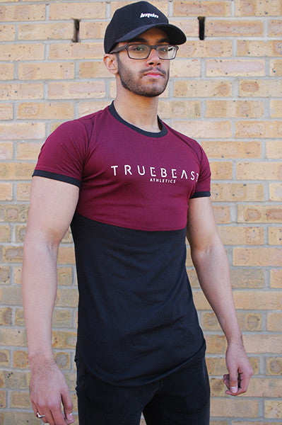 Classic Lifestyle Fitted T-Shirt | Maroon & Black *ONLY 1 LEFT*