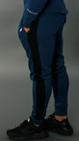 REVO Tracksuit bottoms | Navy Blue, Black and White
