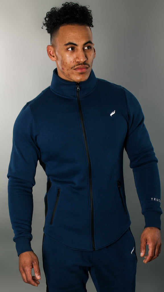 REVO Tracksuit Jacket | Navy Blue, Black and White