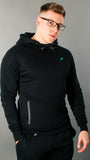 Stealth V2 Hoodie | Black and Teal