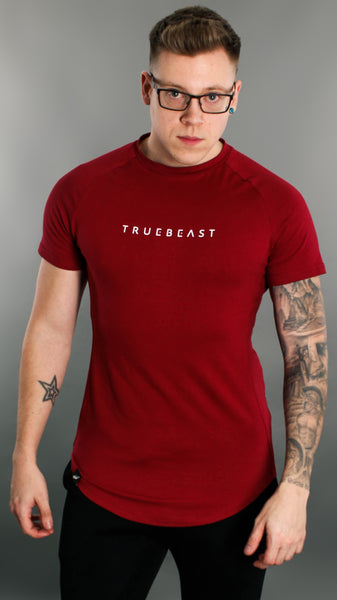 Rogue Muscle Fit T-shirt | Maroon and White