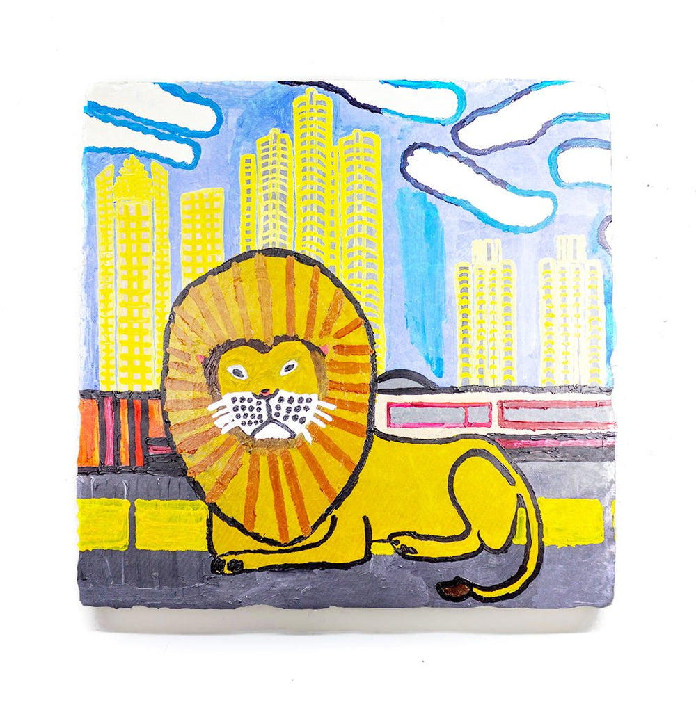 Robert Shaw Detroit Lion Coaster