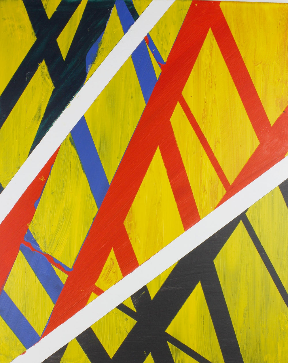 Yellow Abstraction Print