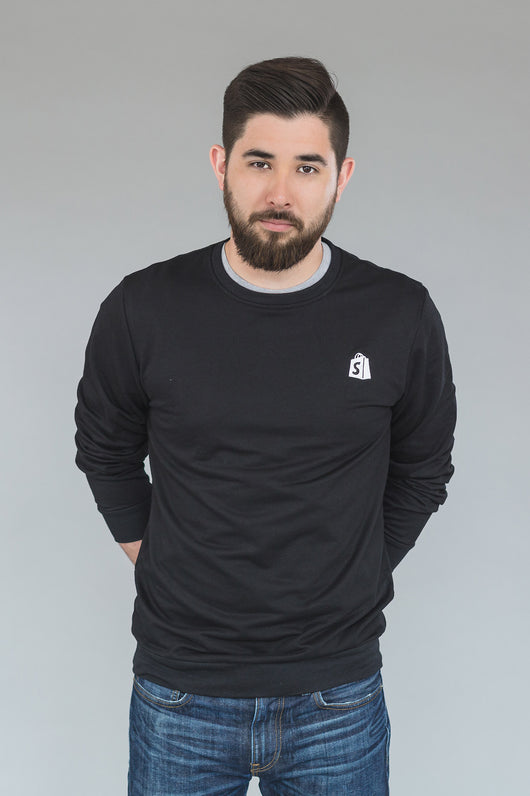 Shopify Crew Neck Black