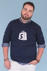 Shopify Crew Neck Navy Bold