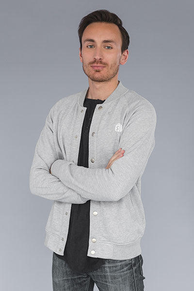 Shopify Baseball Bomber Grey