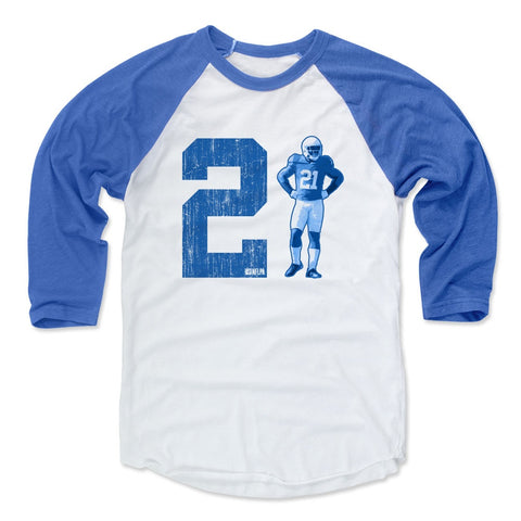 Mens Baseball T-Shirt White / Blue