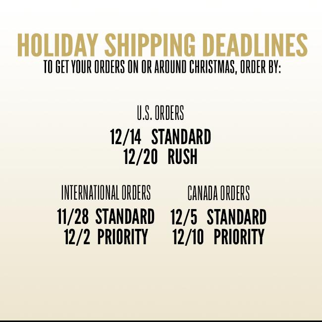 Shipping Deadlines for Rival Sons Store