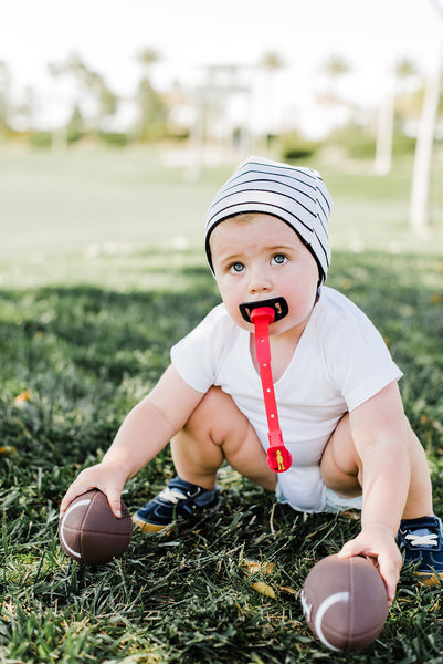 Little Guy Sport Mouthguard in Red, Throwback Football Mouthguard