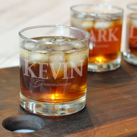 Custom Engraved Rocks Glasses | Groomsman Gift - Intricut Creations