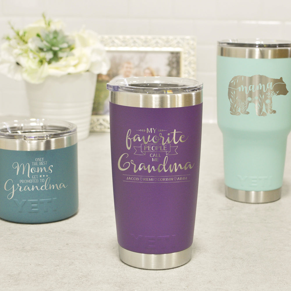 Mother's Day Engraved Yeti | Gifts for Mom and Grandma - Intricut Creations