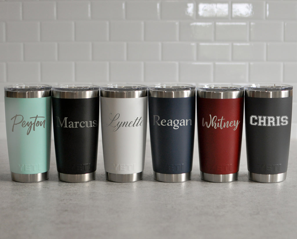 Engraved Personalized Yeti Rambler 20 Oz