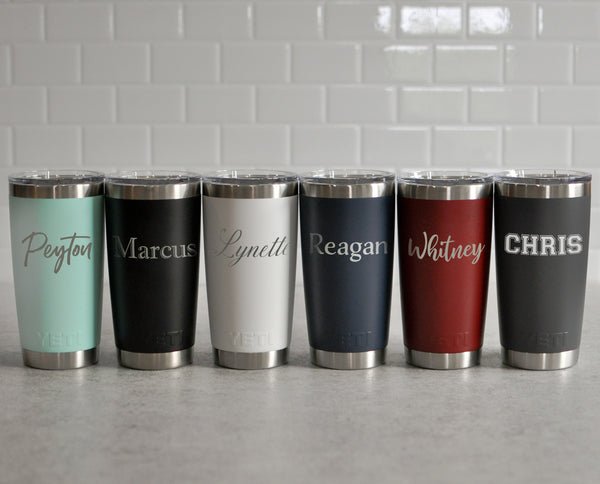 Engraved Personalized Yeti Rambler 20 oz | Custom Tumbler - Intricut Creations