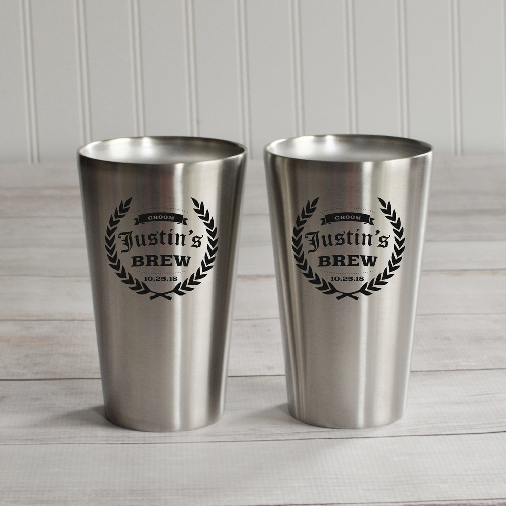 Stainless Pint Glass - Intricut Creations