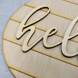 DIY Wood Sign Kit | Hello Farmhouse Sign - Intricut Creations