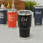 Father's Day Engraved Yeti Tumbler | Gift for Dad and Grandpa - Intricut Creations