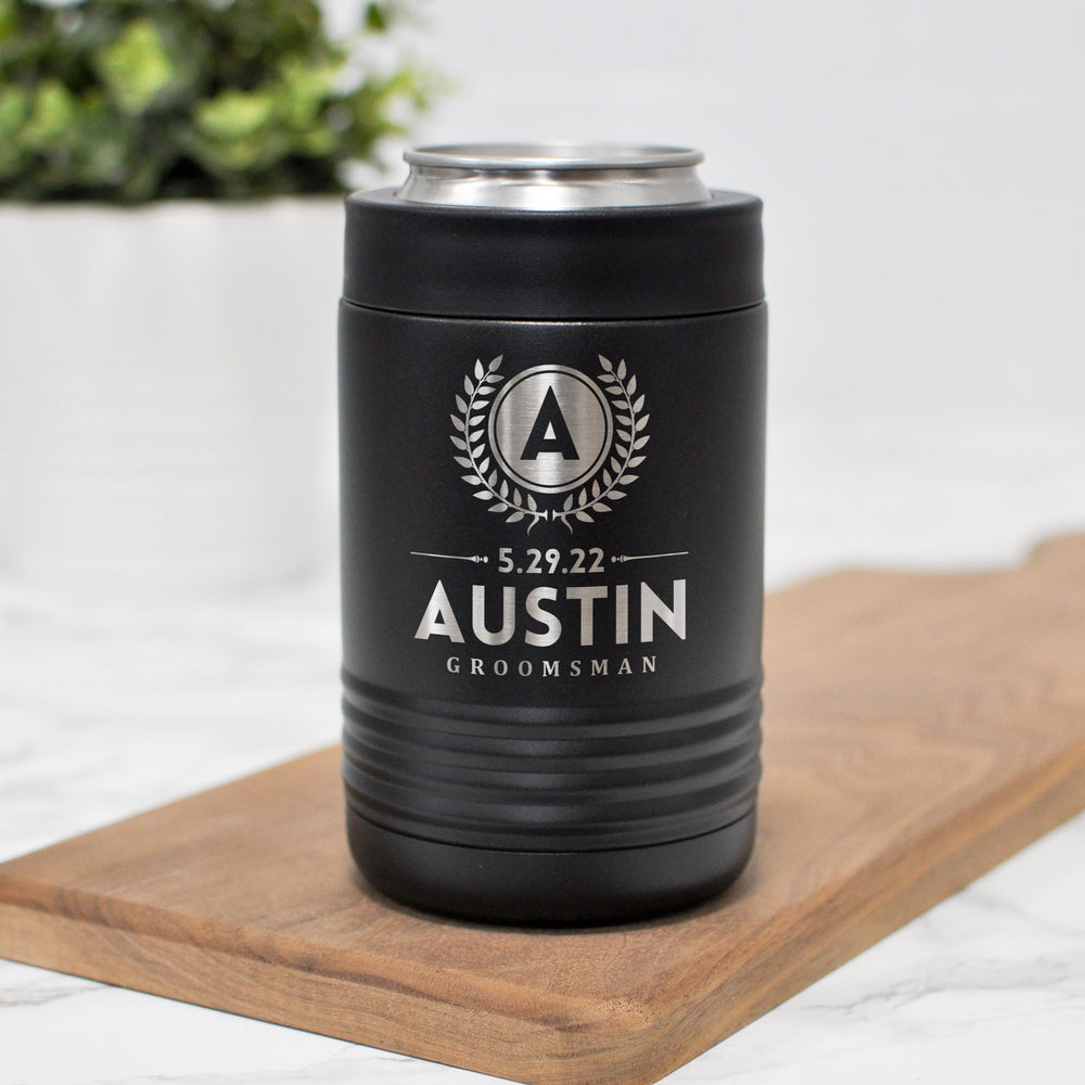 Engraved Groomsman Can Holder | Wedding Party Gift