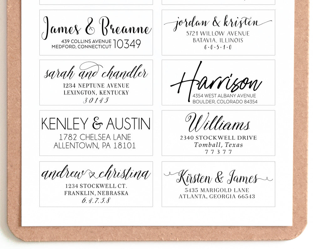 Custom Self Inking Address Stamp | Personalized Envelope Stamp