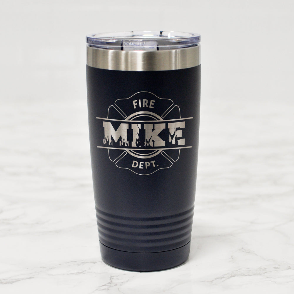 Custom firefighter tumbler