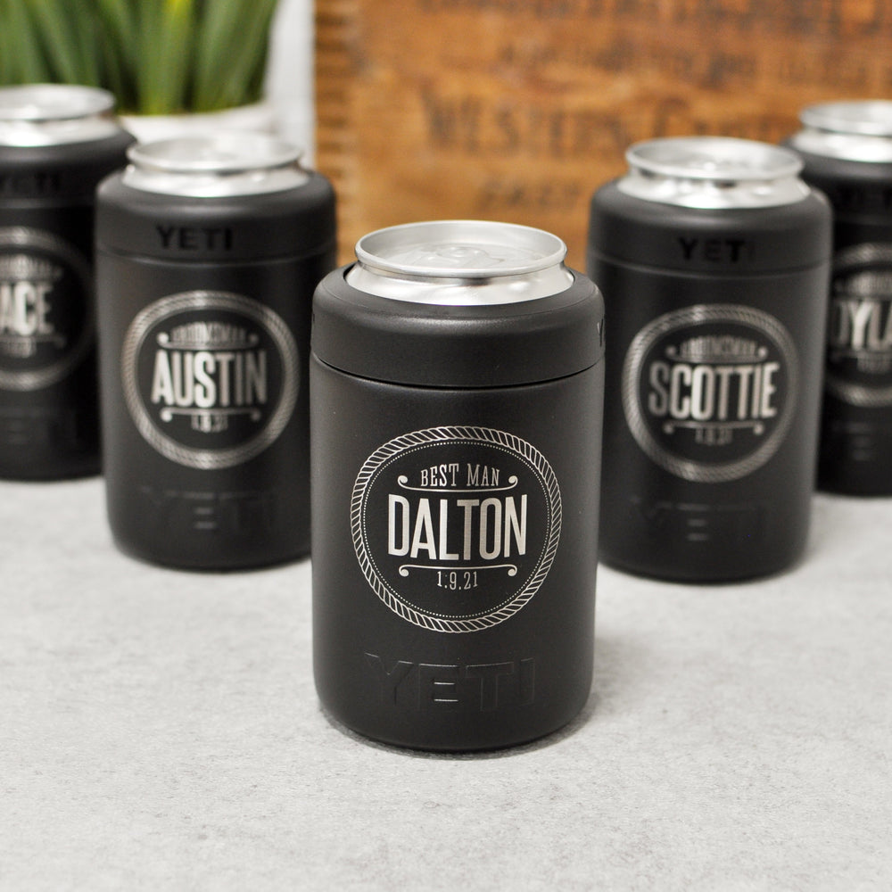 Engraved Wedding Yeti Colster | Groomsman Insulated Can Holder