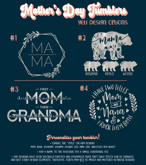 Custom Engraved Yeti for Mom | Gifts for Grandma