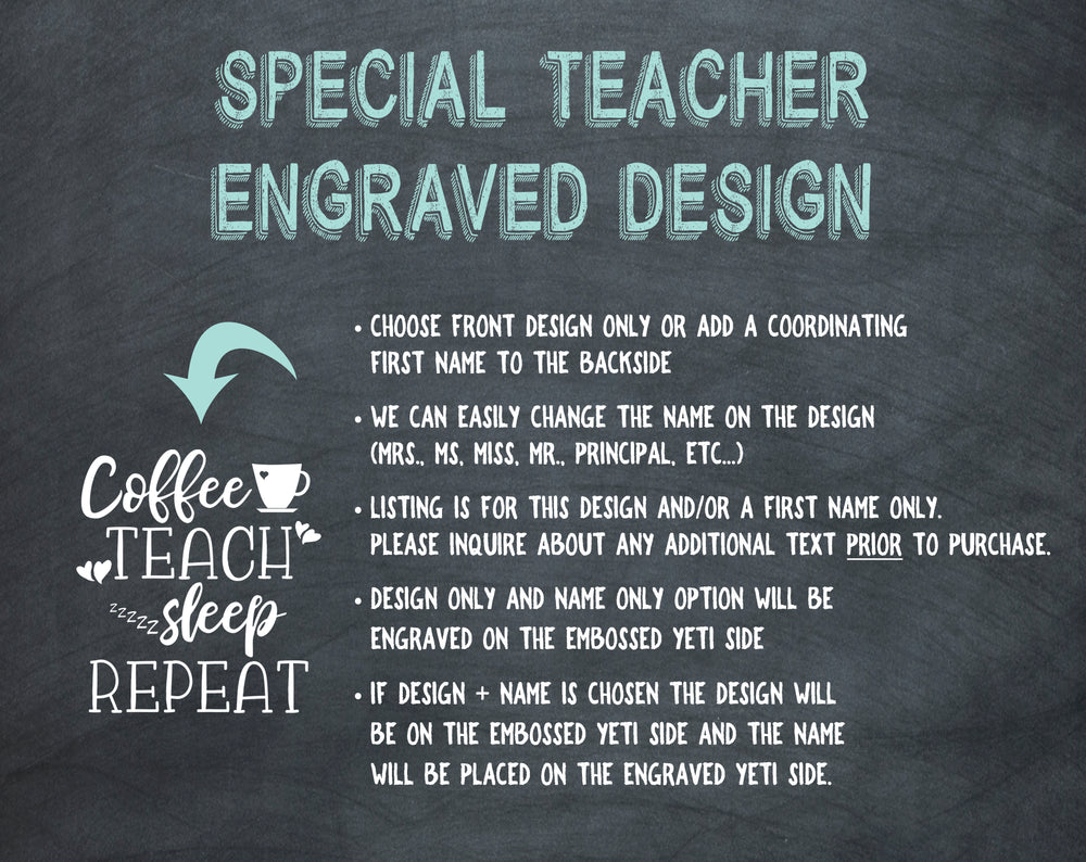 Custom Engraved Teacher Yeti | Gifts for Teachers - Intricut Creations