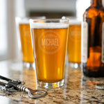 Engraved Pint Glasses | Groomsman Best Man Gifts