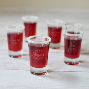 Bachelorette Party Engraved Shot Glass | Personalized Party Favors - Intricut Creations