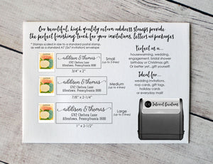 Custom Self Inking Address Stamp | Style #100 - Intricut Creations