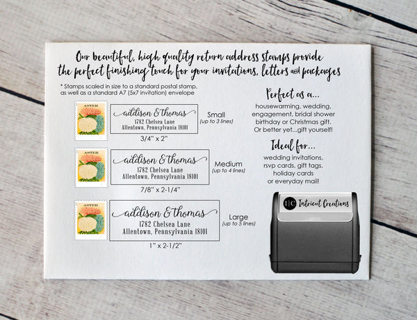 Custom Self Inking Address Stamp (Style #100) - Intricut Creations