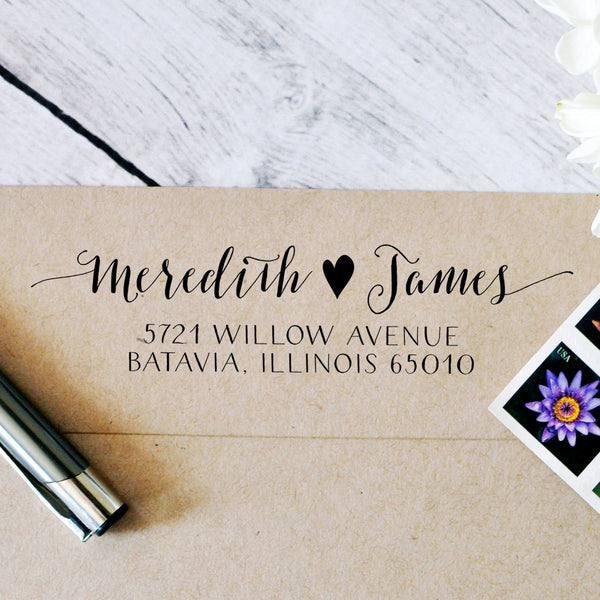 Self Inking Return Address Stamp (Style #055) - Intricut Creations
