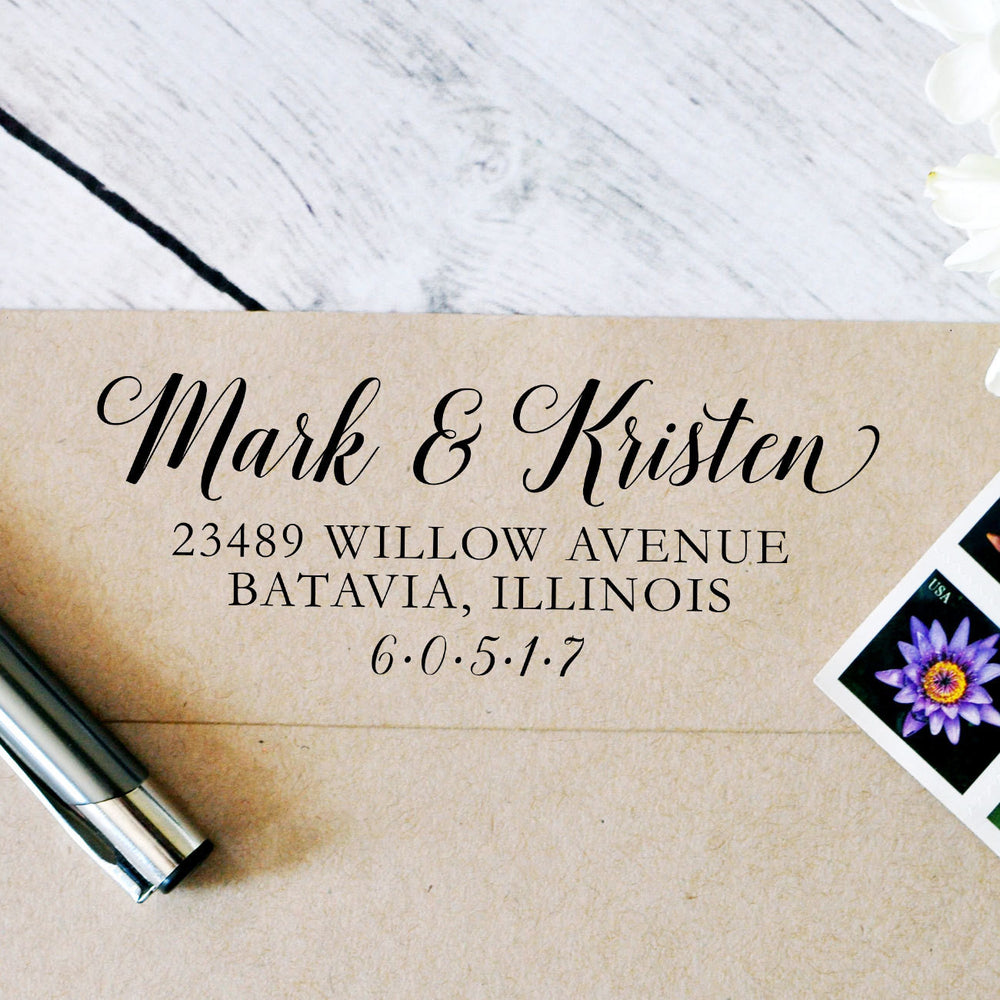 Personalized Self Inking Stamp | Style #094 - Intricut Creations
