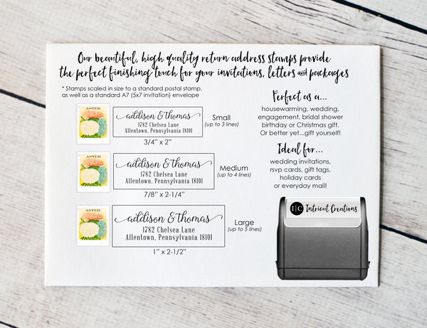 Custom Self Inking Address Stamp (Stamp #039) - Intricut Creations