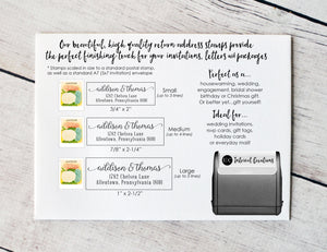 Custom Self Inking Address Stamp | Style #111 - Intricut Creations