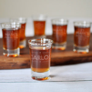 Engraved Bachelor Party Shot Glasses | Personalized Party Favors - Intricut Creations