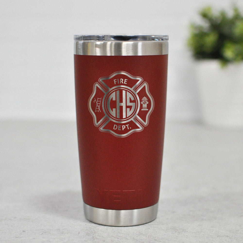 Custom Firefighter Yeti | Personalized Fireman Tumbler - Intricut Creations