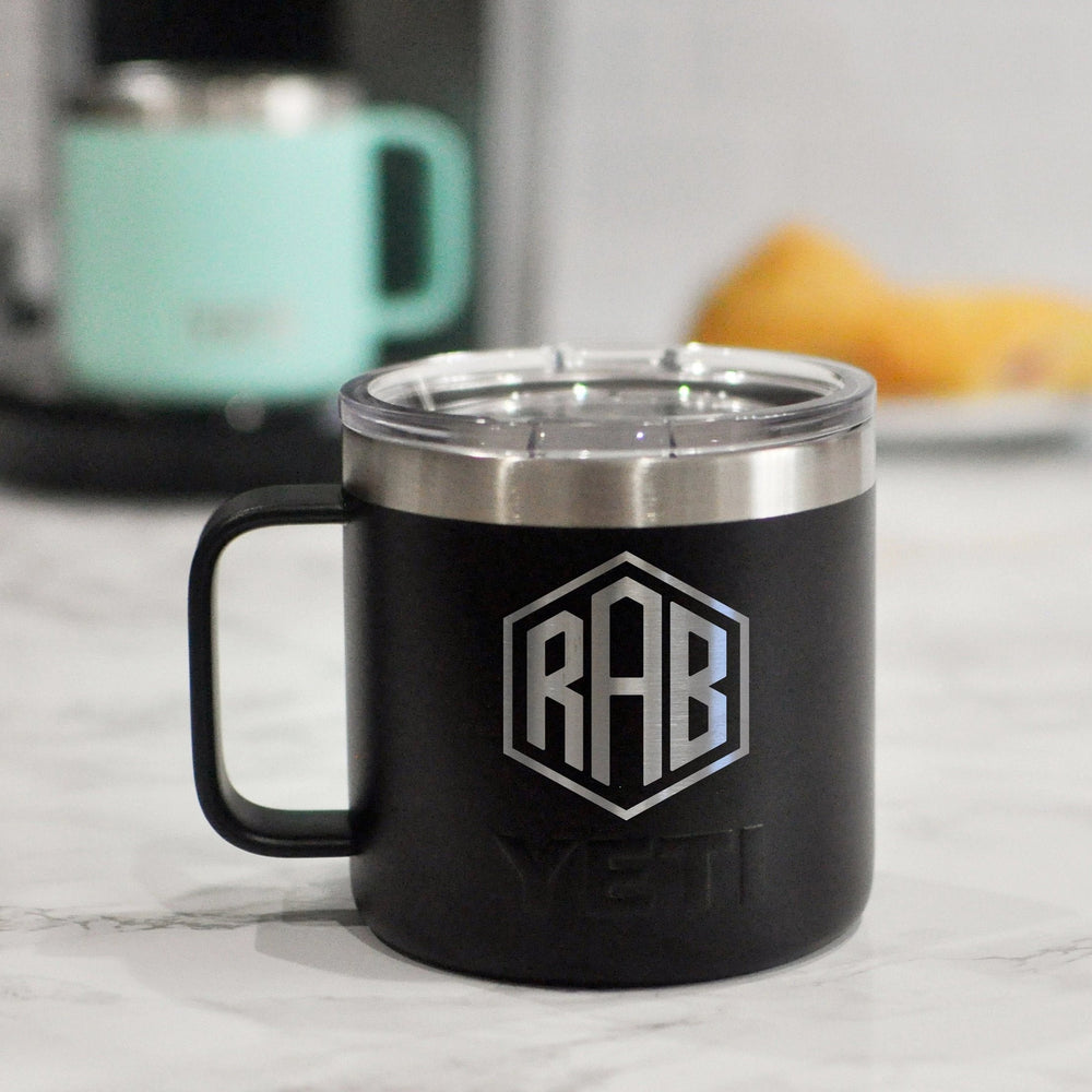 Monogrammed Engraved Yeti Mug | Personalized Coffee Mug - Intricut Creations
