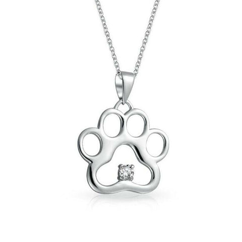 Paw Shining Crystal Pendant Necklace - ensomart