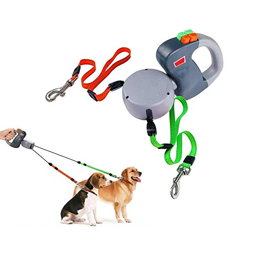 Dual Dog Anti-Tangling Retractable Leash (60% OFF) - ensomart
