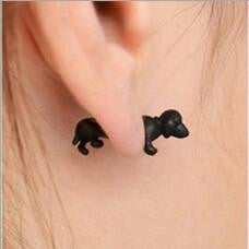 Mini Dog Cute Unisex Stud Earrings