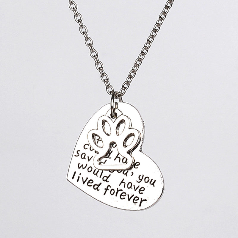 """if love could have saved you , you would have lived forever"" Necklace - ensomart"
