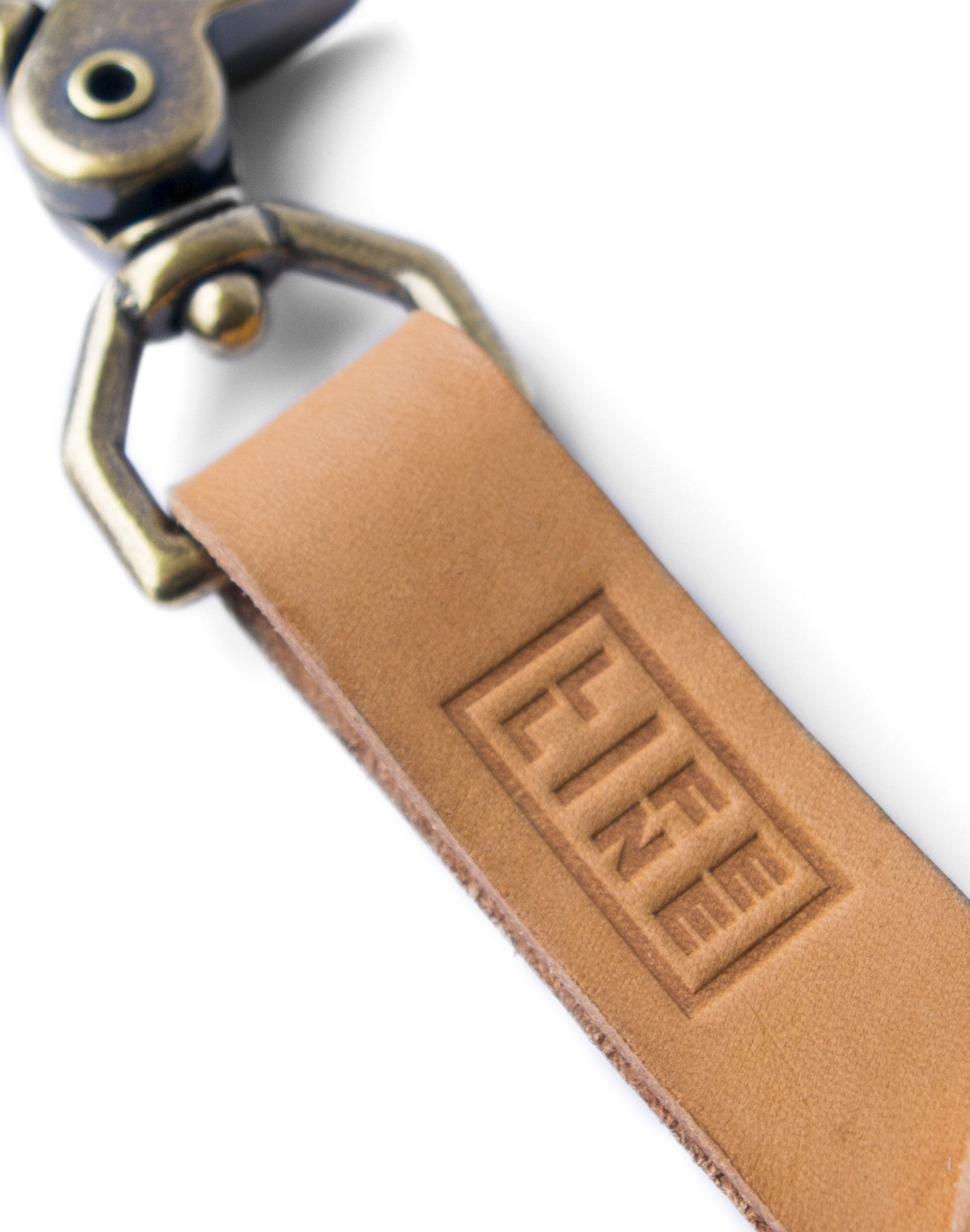 'Gatherer' Vegtan Leather Keychain