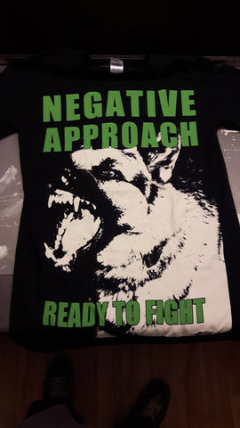 Negative Approach 2018 tour shirts