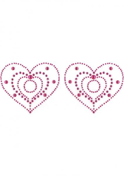 Crystal Heart Pink Pasties - Joitoyz
